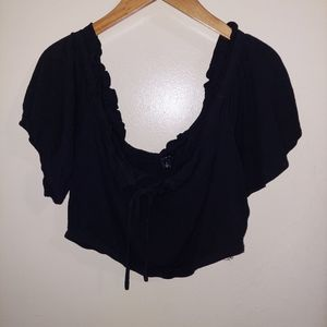 Torrid size 2 black outfit crop top with skirt